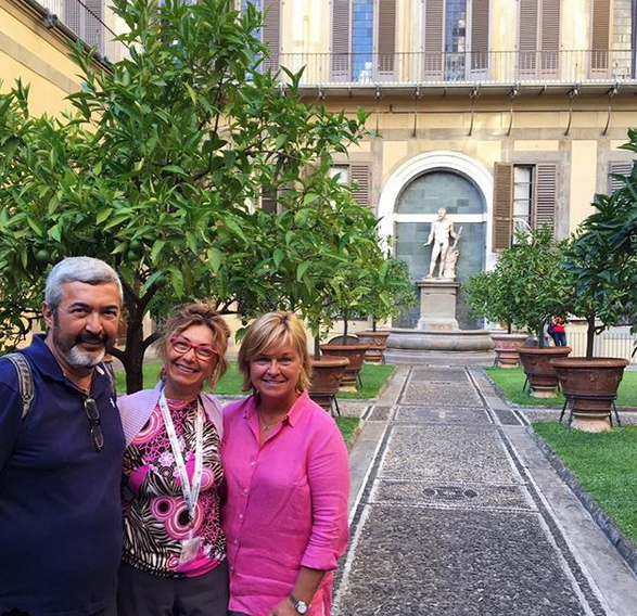 Jon Cassar and wife in Florence